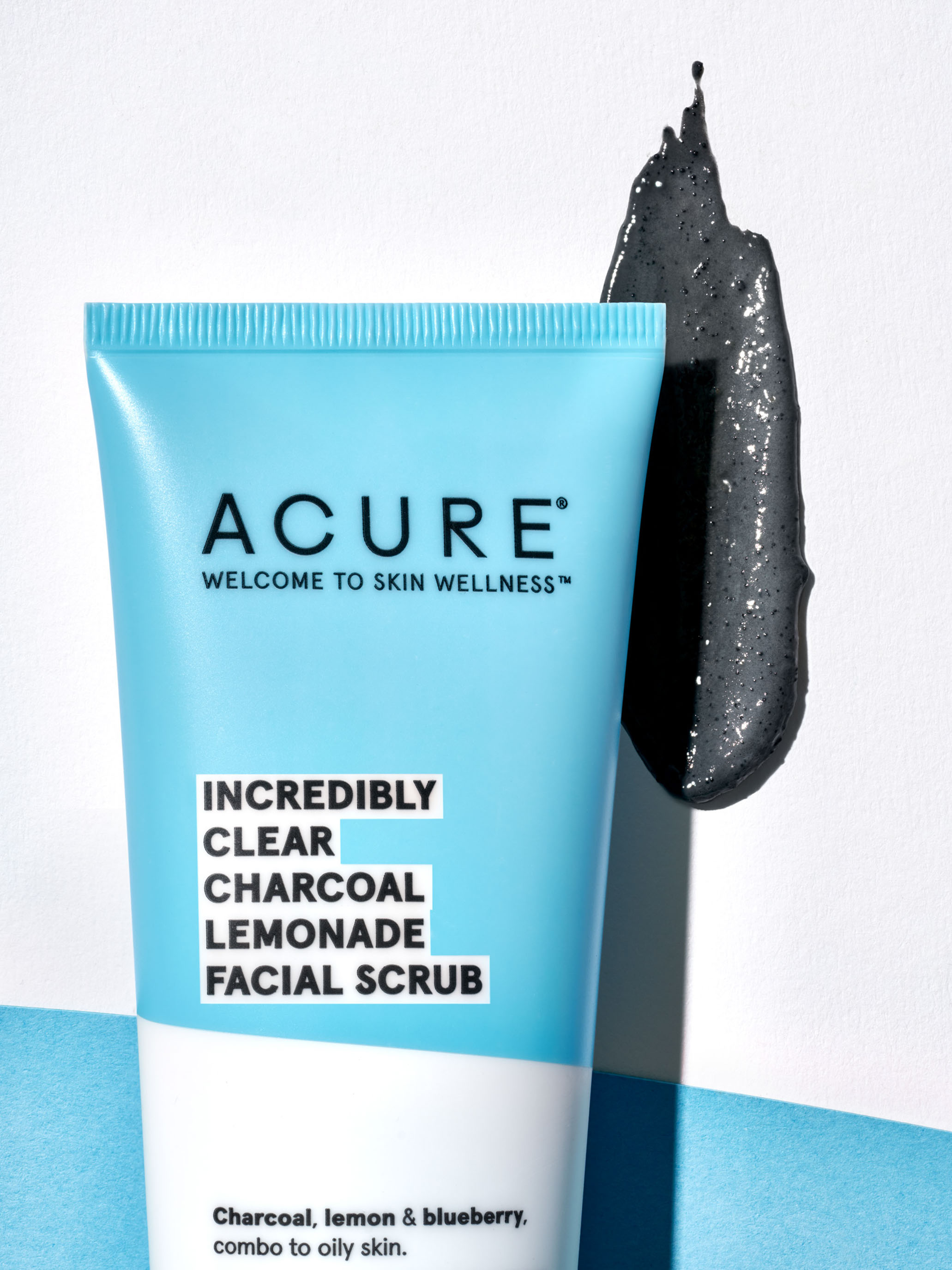 STAN Acure Product Still Life Charcoal Facial Scrub