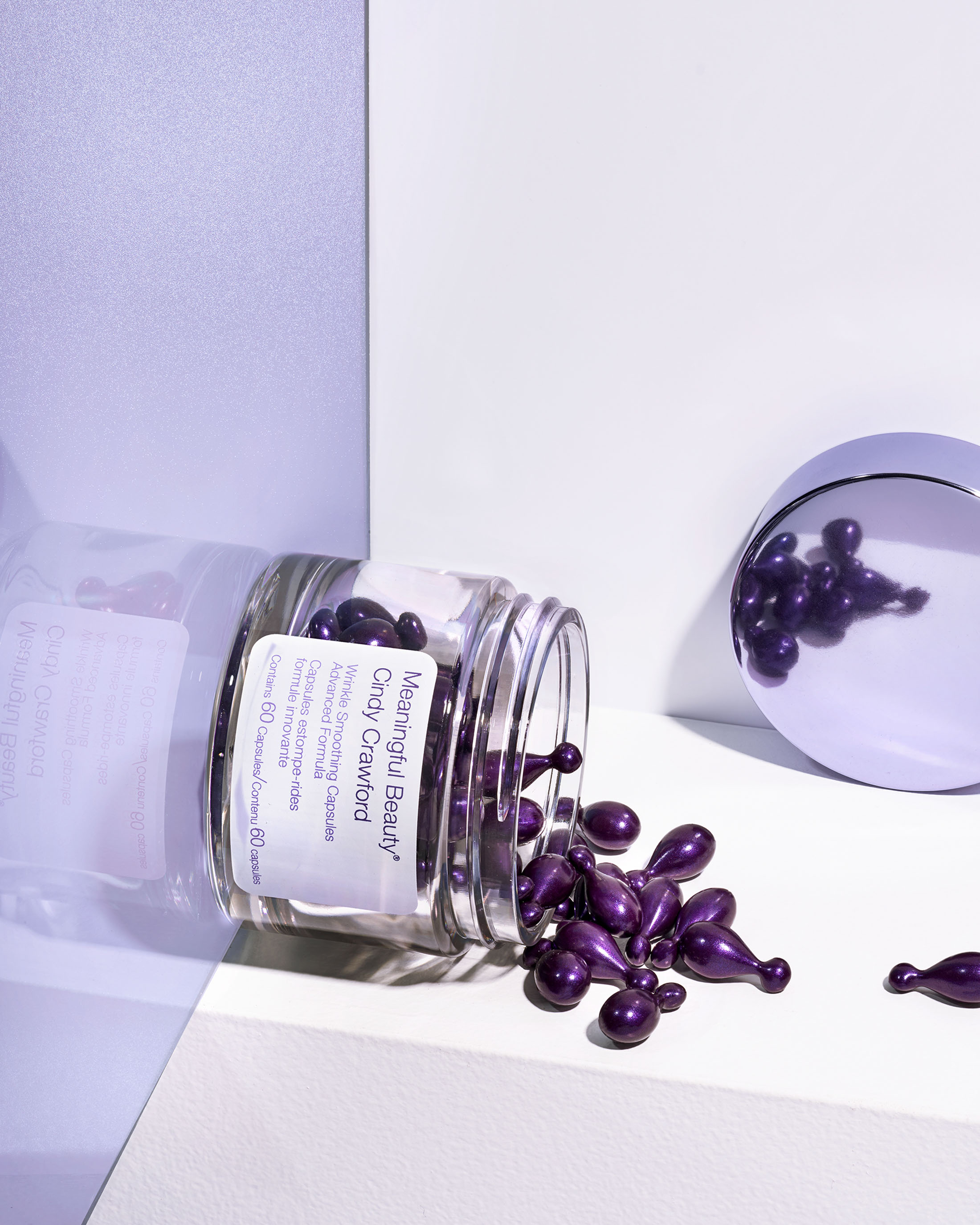 STAN Cindy Crawford Wrinkle Capsule Product Spill Still Life