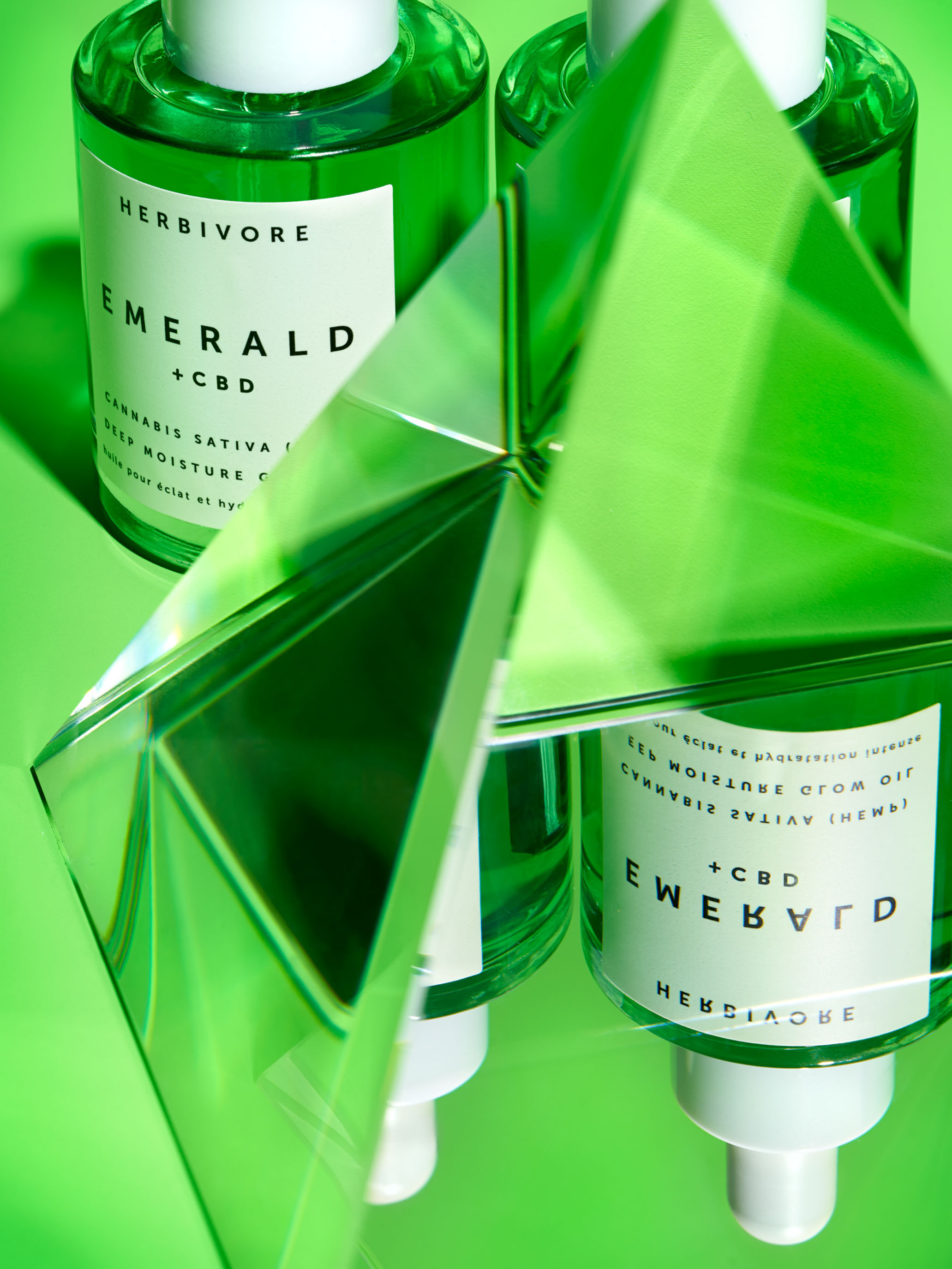 STAN Herbivore Emerald CBD Editorial Still Life with Prism